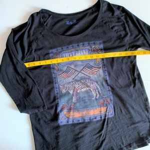 Lucky Brand Tops - Lucky Brand USA Flag & Leopard Graphic Tee - XL